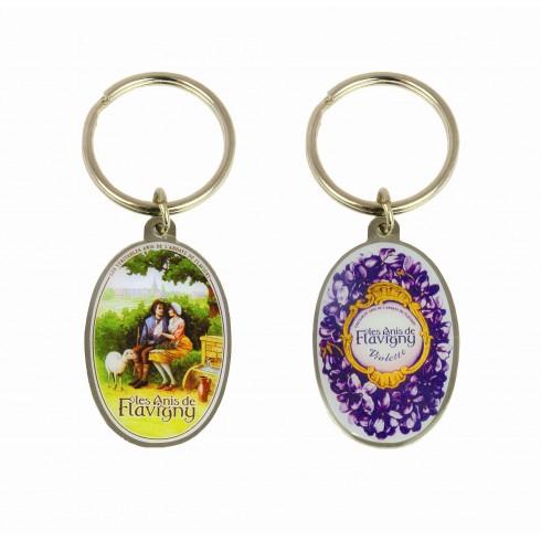 Un porte clefs recto verso anis de flavigny un bien bon bonbon - Porte clef personnalise photo recto verso ...