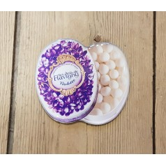 Violet oval tin magnet
