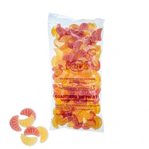 Bonbons quartiers de fruits  CDHV 250G