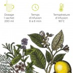 Tisanes digestive Bio - Cube métal 24 sachets