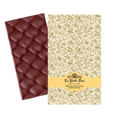 Tablette Chocolat au Lait Fleur de sel  Bio Petit Duc 70g