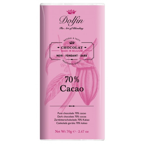 Tablette Chocolat Noir 70% - Dolfin 70g