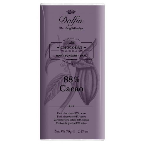 Tablette Chocolat Noir 88% - Dolfin 70g