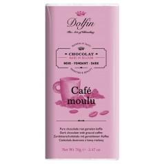 Tablette Chocolat Noir Café moulu  Dolfin 70g