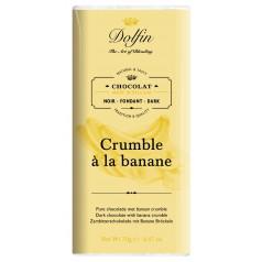 Tablette Chocolat Noir Crumble Banane Dolfin 70g