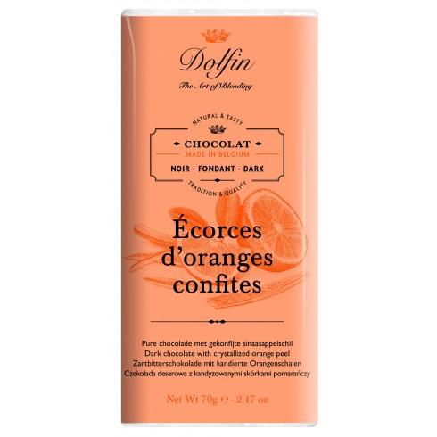 Tablette Chocolat Noir Orange  Dolfin 70g