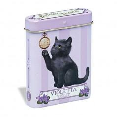 Boite en métal Léone Chaton Violette  15g