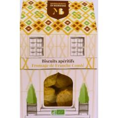 Boîte Biscuits apéro bio fromages Franche Comté  90g
