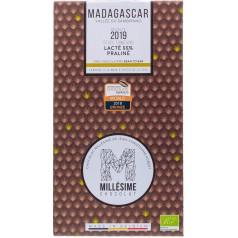 Tablette Chocolat Lacté 55% Praliné Madagascar Millesime 70g