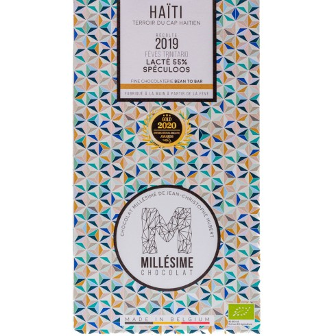 Tablette Chocolat Lacté 55% Spéculoos Haïti Millesime 70g