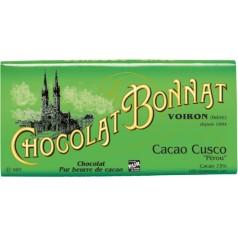 """Tablette Cusco """"Pérou"""" Noir 75% Bonnat 100g"""