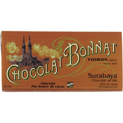 """Tablette Surabaya """"Indonésie"""" Lait 65% 100g"""