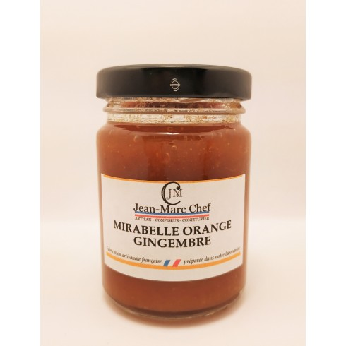 Confiture Mirabelle Orange Gingembre  110g