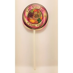 Natural Black Cherry Flavoured Twirl Pop The Natural Candy Shop