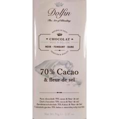 Tablette Chocolat Noir 70% Cacao & Fleur de Sel - Dolfin 70g