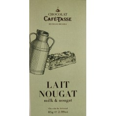 Milk Chocolate & Nougat 85g CaféTasse