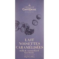 Milk chocolate & Caramelized Hazelnuts 85g CaféTasse