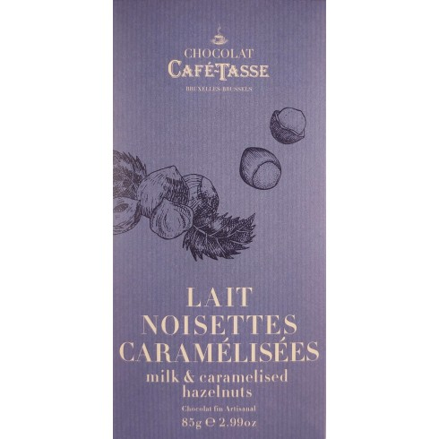 Tablette Lait Noisettes Caramélisées  CaféTasse 85g