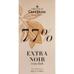 Tablette 77% Extra Noir  CaféTasse 85g