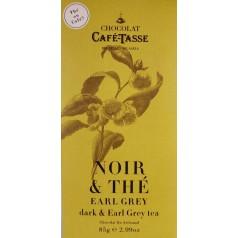 Dark Chocolate & Earl Grey tea CaféTasse 85g