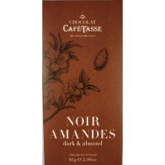 Dark Chocolate & Almond 85g CaféTasse