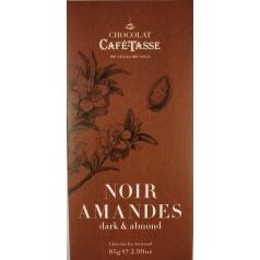 Tablette Noir Amandes CaféTasse 85g