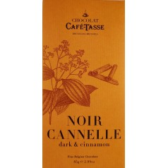 Tablette Noir Cannelle CaféTasse 85g