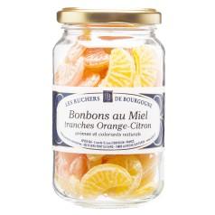 Bonbons au miel tranches orange citron 250g