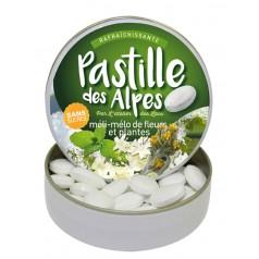 Pastille des Alpes méli-mélo de fleurs et plantes