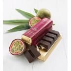 Barre chocolat noir fourré fruit de la passion 45g