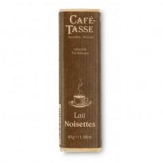 Barre chocolat lait noisettes 45g
