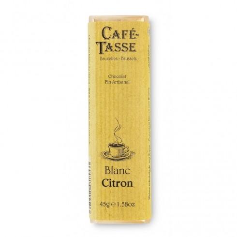Barre chocolat blanc citron 45g
