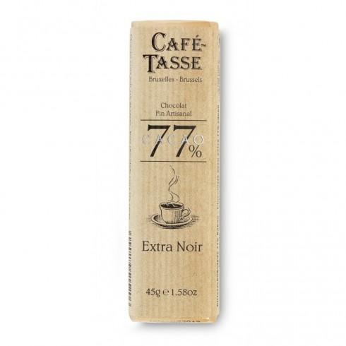 Barre chocolat extra noir 77% cacao 45g