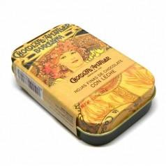 Chocolats au lait Amatller, boîte métal 30g