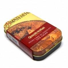 Dark chocolate 70% cocoa  Amatller, tin box 30g