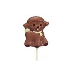 One lamb milk chocolate lollipop 35g