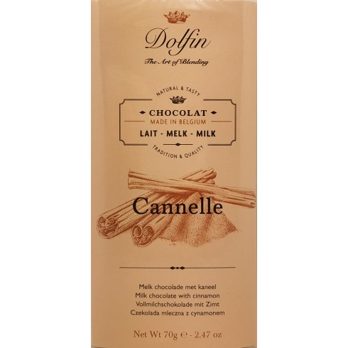 Tablette Chocolat au Lait Cannelle 70g Dolfin
