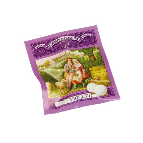 100 tasting samples of 2 candies violet 200g