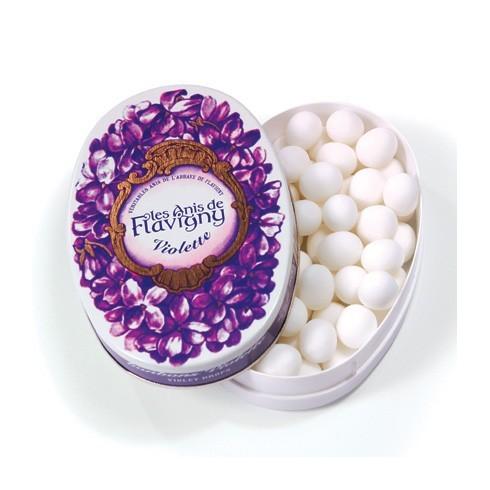 Boîte ovale - Bonbons Violette 50g