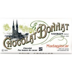 "Black Chocolate (75%) Bonnat 100g ""Madagascar"""