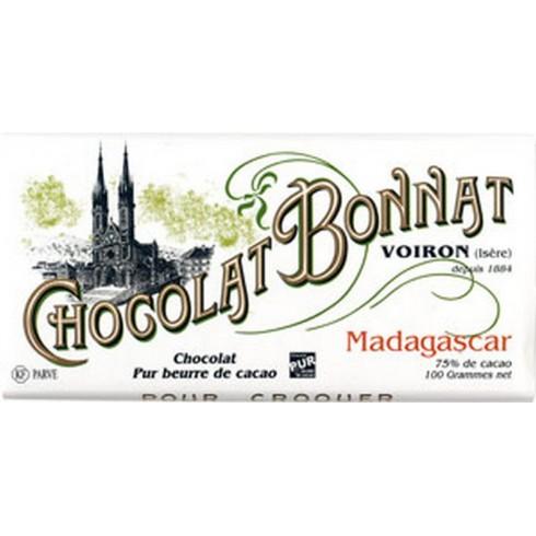 """Black Chocolate (75%) Bonnat 100g """"Madagascar"""""""