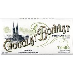 """Tablette Trinité """"Antilles""""  Noir 75%  Bonnat 100g"""
