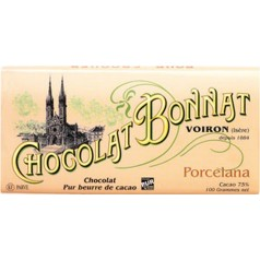 "Black Chocolate (75%) Bonnat 100g ""Porcelana - Vénézuela"""