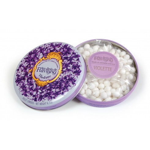 bo te ronde bonbons la violette 190g anis de flavigny un bien bon bonbon. Black Bedroom Furniture Sets. Home Design Ideas