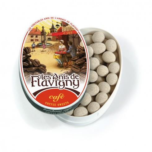 Boite ovale - Bonbons Café 50g