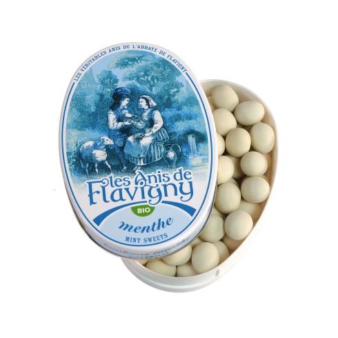 Boîte ovale Bonbons Menthe Bio 50g