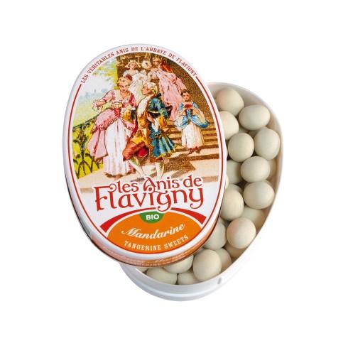 Boîte ovale Bonbons Mandarine Bio 50g