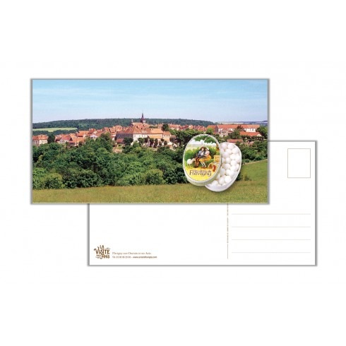 Carte postale panoramique paysage de Flavigny