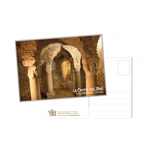 Postcard Crypt in Abbey of Anis de Flavigny