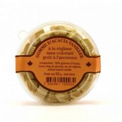 Gomme acacia vanillée à la réglisse - 50g